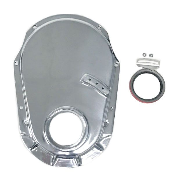 Alum Timing Chain Cover Polished RACING POWER CO-PACKAGED R8430 Gen VI BBC 96
